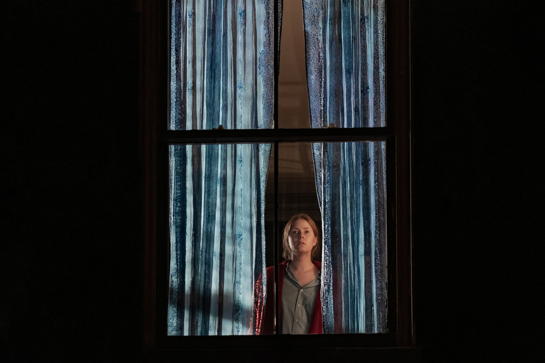 Женщина в окне, США, 2021 год